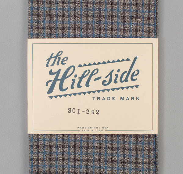 The Hill-Side Black & Tan Covert Gun Check Scarf