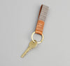 The Hill-Side Black & Tan Covert Stripe Key Fob