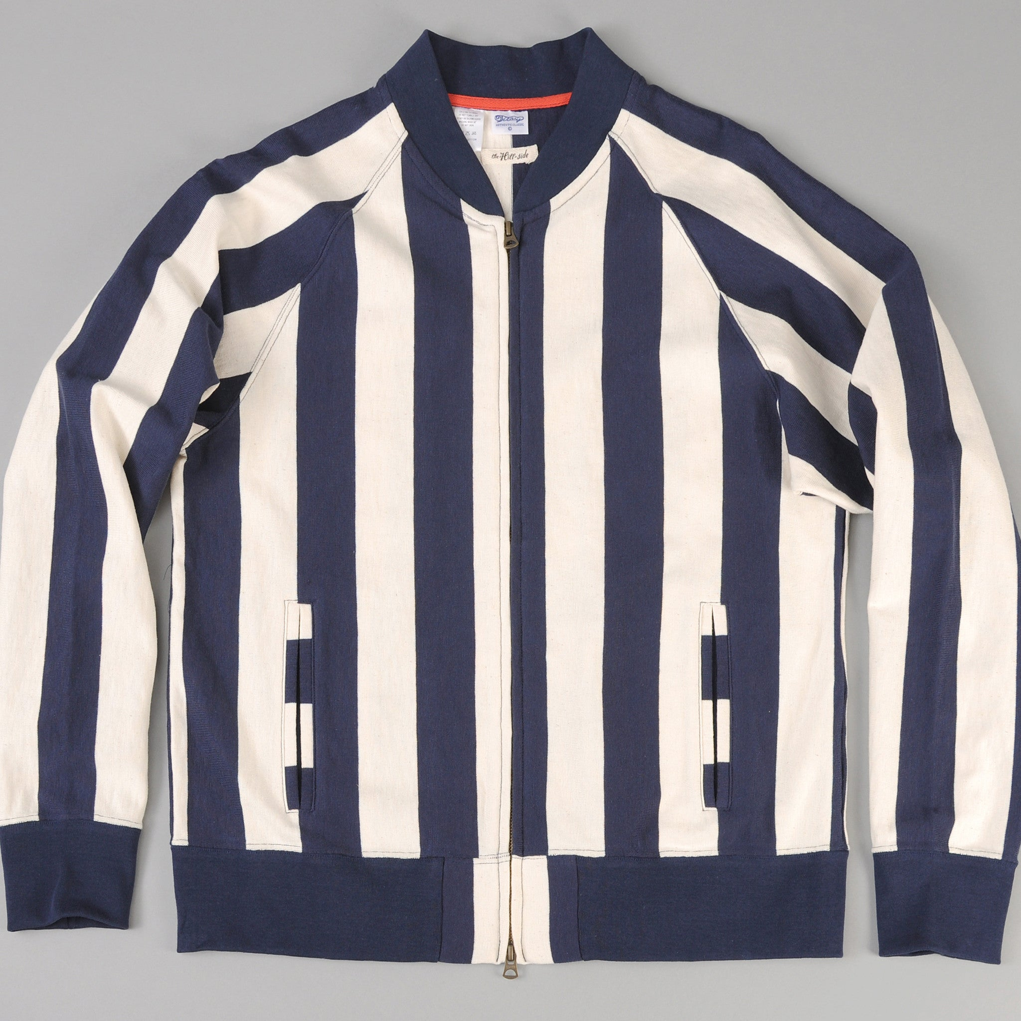 The Hill-Side Blouson Zip Jacket, Navy Stripe (TH-S x Teasy)