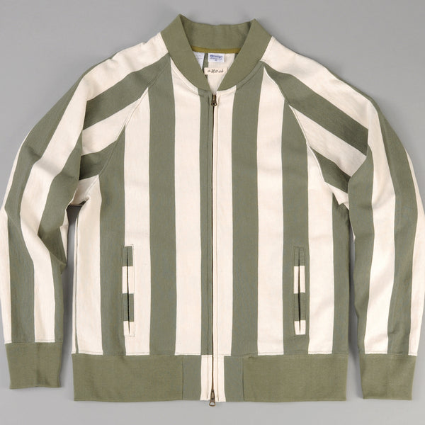 The Hill-Side Blouson Zip Jacket, Olive Stripe (TH-S x Teasy)