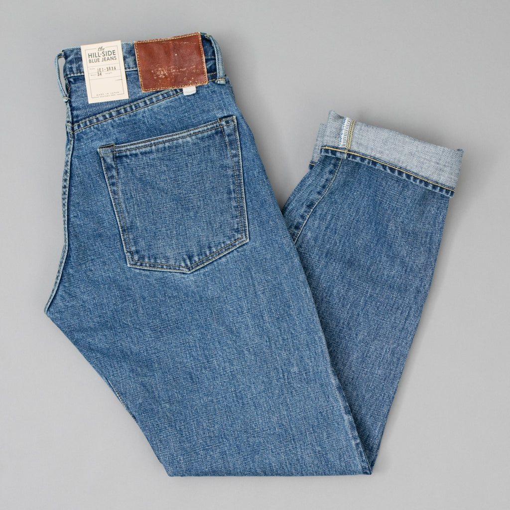 The Hill-Side - Blue Jeans, TH-S Mills 14 oz Okayama Selvedge Denim, Heavy Stonewash - JE1-363A - image 1