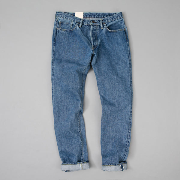 The Hill-Side - Blue Jeans, TH-S Mills 14 oz Okayama Selvedge Denim, Heavy Stonewash - JE1-363A - image 2