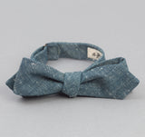 The Hill-Side - Bow Tie, Extra Neppy Indigo Chambray - BT1-324 - image 1