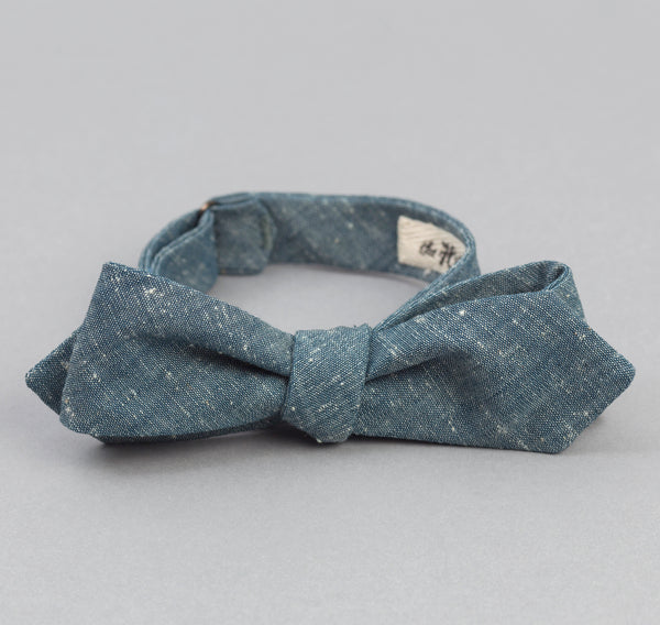 The Hill-Side Extra Neppy Indigo Chambray Bow Tie