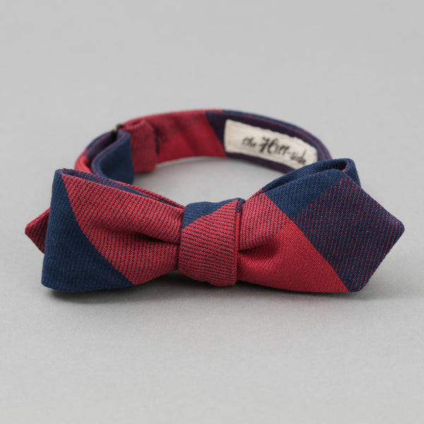 The Hill-Side Indigo/Red Flannel Bow Tie, Buffalo Check