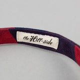The Hill-Side - Bow Tie, Indigo/Red Flannel, Buffalo Check - BT1-380 - image 4