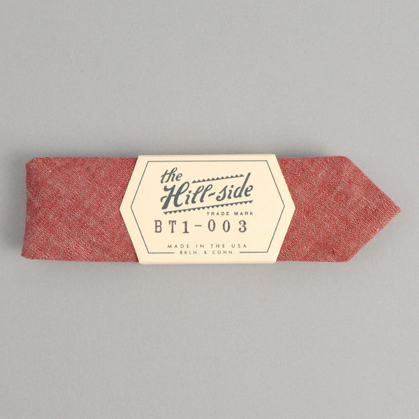 The Hill-Side - Bow Tie, Selvedge Chambray, Red - BT1-003 - image 2