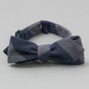 The Hill-Side Bow Tie, TH-S Mills Navy Warp Giant Border Stripe, Covert Beige & Slate Blue