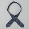 The Hill-Side - Bow Tie, TH-S Mills Navy Warp Waterfall Stripe, Navy & Biege - BT1-364 - image 3