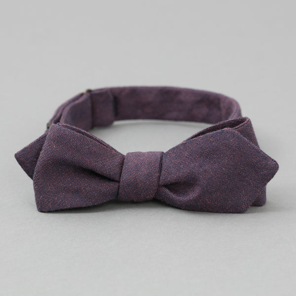 The Hill-Side - Bow Tie, TH-S Mills Navy Warp x Coral Weft Chambray - BT1-368 - image 1