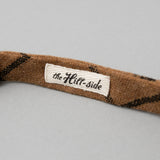 The Hill-Side - Bow Tie, Wool Blend Windowpane Check, Brown & Black - BT1-382 - image 4