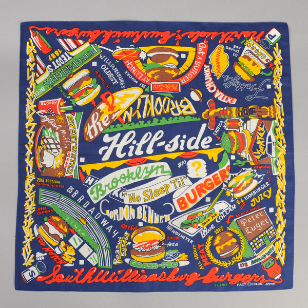 The Hill-Side - Brooklyn Burgers Souvenir Bandana, Blue - SB6-03 - image 1