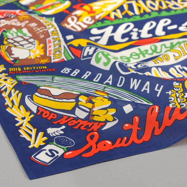 The Hill-Side - Brooklyn Burgers Souvenir Bandana, Blue - SB6-03 - image 2