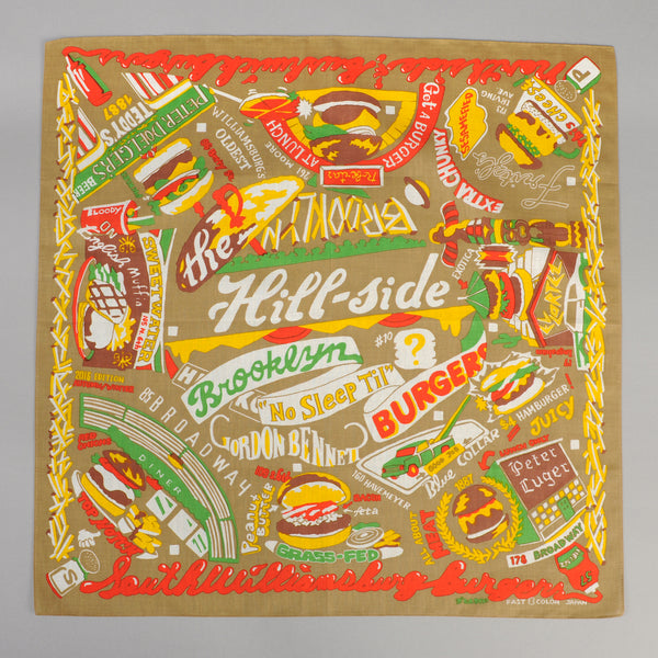 The Hill-Side Brooklyn Burgers Souvenir Bandana, Tan