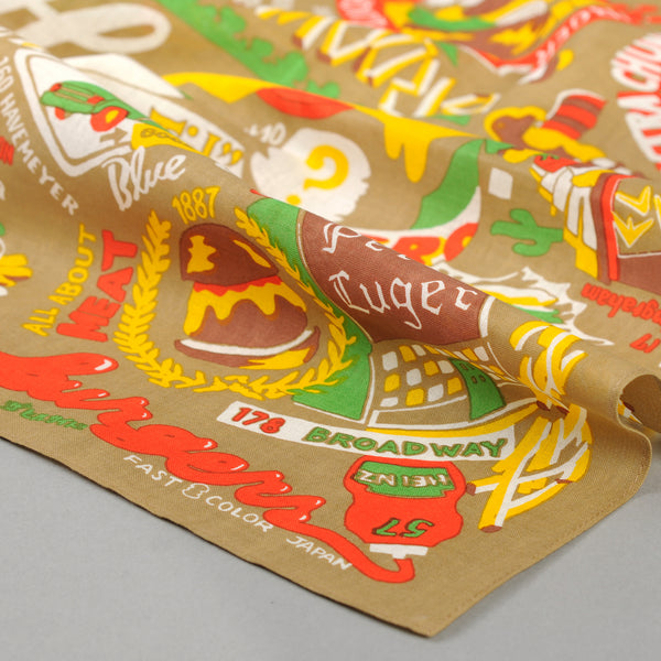 The Hill-Side - Brooklyn Burgers Souvenir Bandana, Tan - SB6-02 - image 2