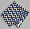 The Hill-Side COTTON/LINEN ZIG ZAG PRINT POCKET SQUARE, NAVY