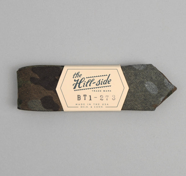 The Hill-Side - Camo Print Reverse Denim Bow Tie - BT1-273 - image 2