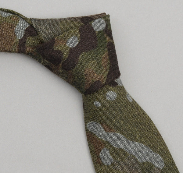 The Hill-Side - Camo Print Reverse Denim Necktie - ST1-273 - image 1