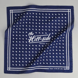 The Hill-Side - Classic Logo Souvenir Bandana, Navy - SB3-01