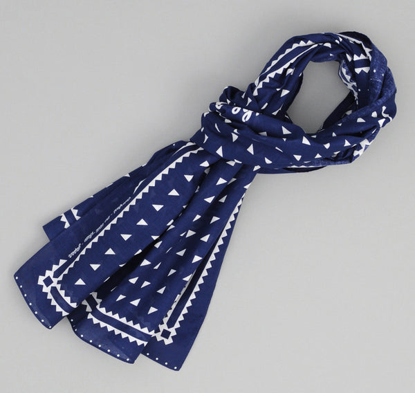 The Hill-Side - Classic Logo Souvenir Bandana Scarf, Navy - SB2-01 - image 1