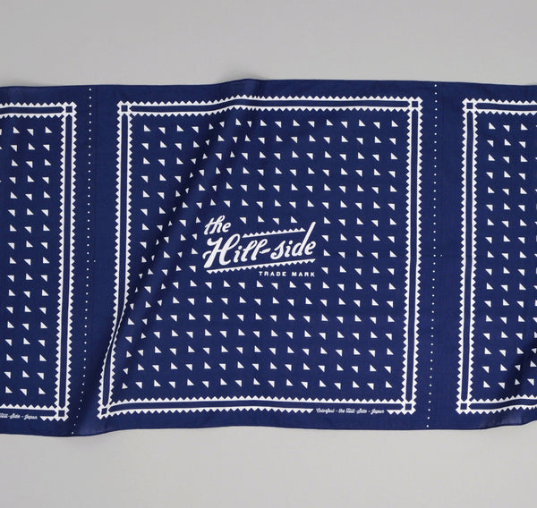 The Hill-Side - Classic Logo Souvenir Bandana Scarf, Navy - SB2-01 - image 2