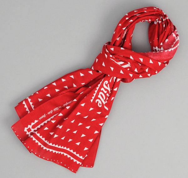 The Hill-Side Classic Logo Souvenir Bandana Scarf, Red