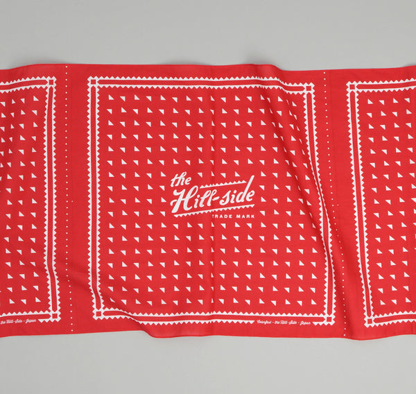 The Hill-Side - Classic Logo Souvenir Bandana Scarf, Red - SB2-02 - image 2