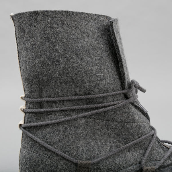 The Hill-Side - Cold-Weather Survival Moccasin Boots, Heavy Wool Felt - SN10-406 - image 2