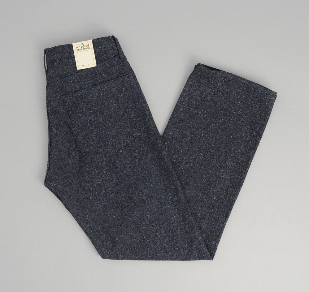 The Hill-Side Cotton Herringbone Tweed 5-Pocket Pants, Navy