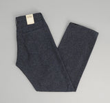 The Hill-Side - Cotton Herringbone Tweed 5-Pocket Pants, Navy - JE2-189 - image 1