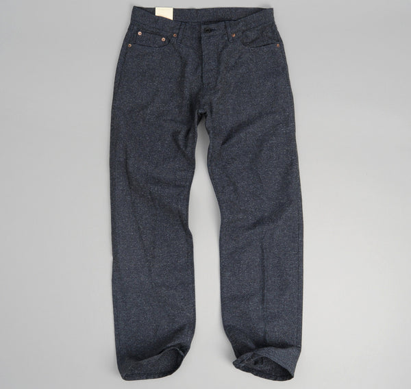 The Hill-Side - Cotton Herringbone Tweed 5-Pocket Pants, Navy - JE2-189 - image 2