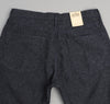 The Hill-Side - Cotton Herringbone Tweed 5-Pocket Pants, Navy - JE2-189 - image 4