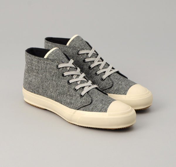 The Hill-Side - Cotton Herringbone Tweed Chukka Sneakers, Grey - SN3-188 - image 1
