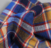 The Hill-Side Cotton / Linen Blend Plaid Pocket Square, Blue / Red