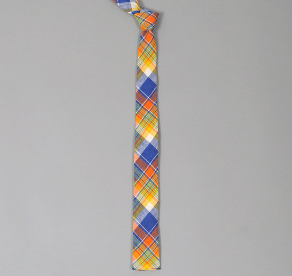The Hill-Side - Cotton / Linen Blend Plaid Tie, Multicolor - N57-146 - image 1