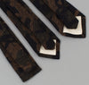 The Hill-Side Cotton / Wool Jacquard Camo Necktie, Olive