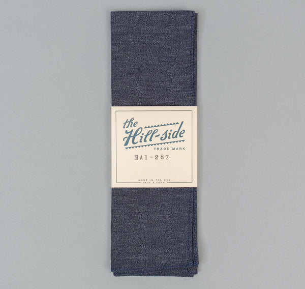 The Hill-Side Covert Chambray Bandana, Dark Indigo