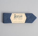 The Hill-Side - Covert Chambray Bow Tie, Dark Indigo - BT1-287 - image 2