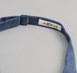 The Hill-Side - Covert Chambray Bow Tie, Dark Indigo - BT1-287 - image 4