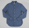 The Hill-Side Covert Chambray Button-Down Shirt, Dark Indigo