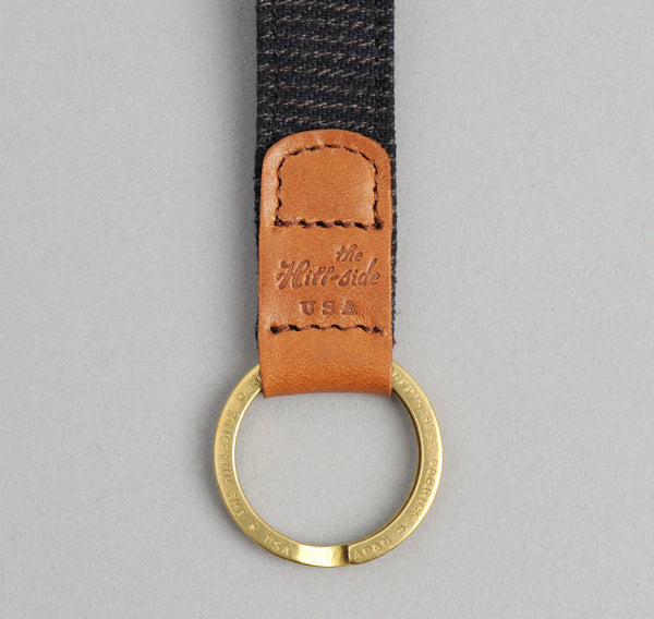 The Hill-Side - Covert Hickory Stripe Twill Key Fob, Black - KF1-304 - image 2