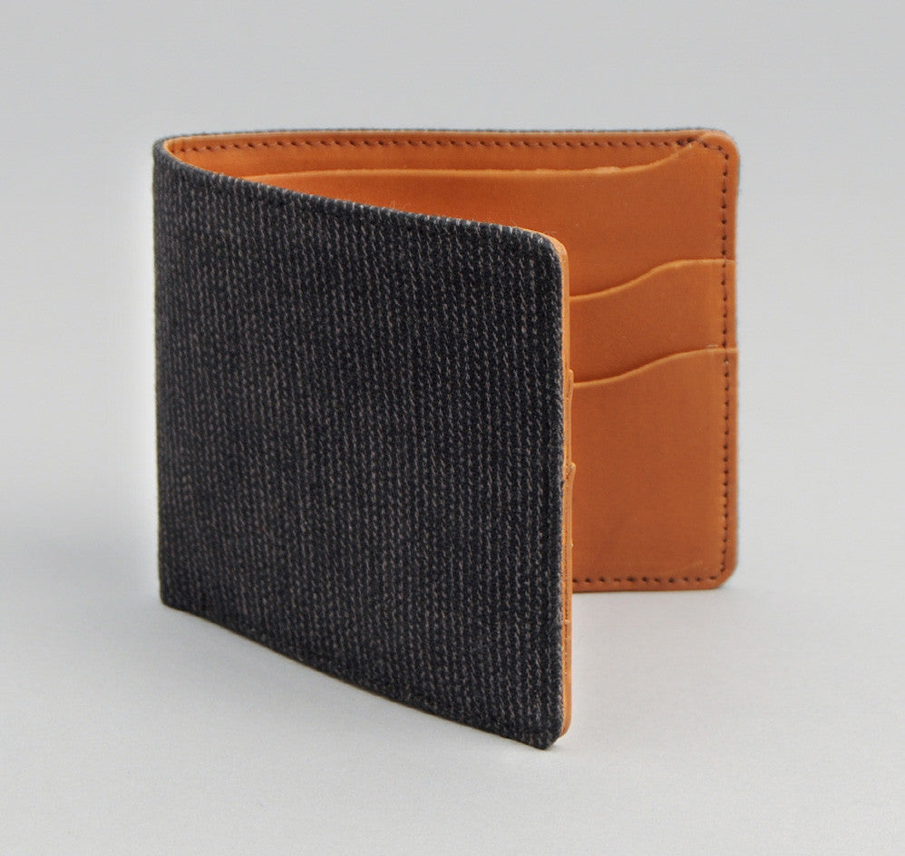 The Hill-Side - Covert Hickory Stripe Twill Wallet, Black - WA1-304 - image 1