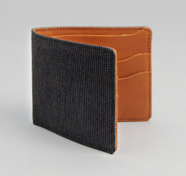 The Hill-Side Covert Hickory Stripe Twill Wallet, Black