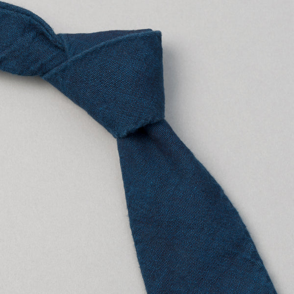 The Hill-Side - Dark Indigo Overdyed Chambray Tie, Limited Edition - PT1-002ID - image 1