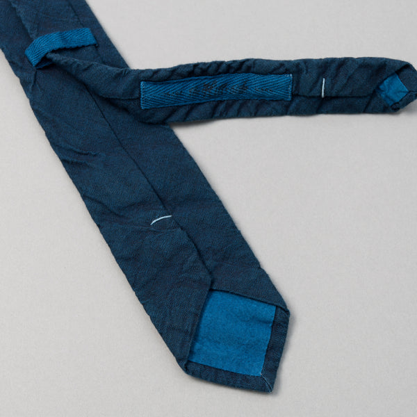 The Hill-Side - Dark Indigo Overdyed Chambray Tie, Limited Edition - PT1-002ID - image 2