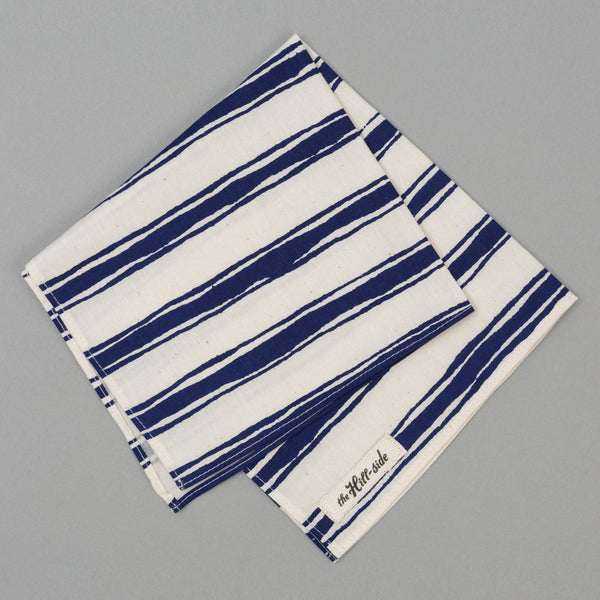 The Hill-Side - Endo Stripes Print Pocket Square, Natural - PS1-344 - image 1