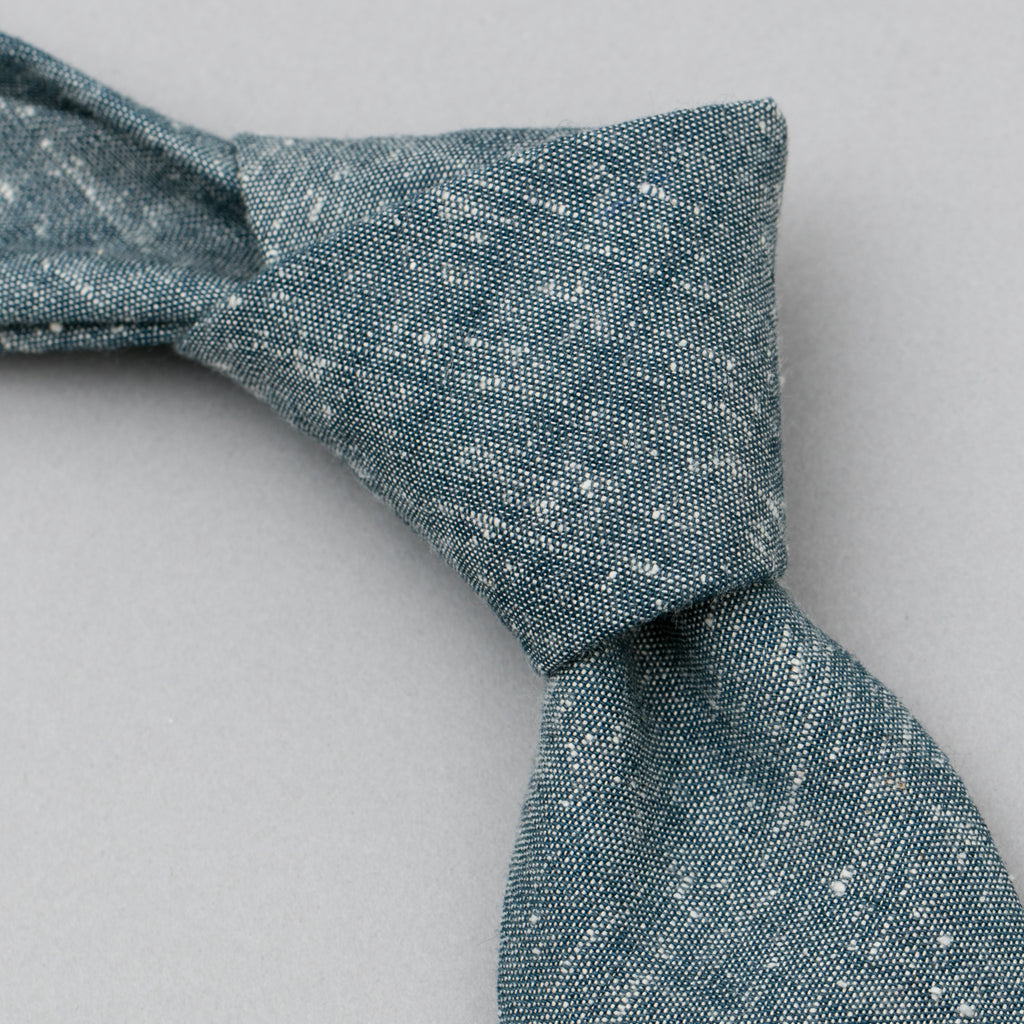 The Hill-Side Extra Neppy Indigo Chambray Tie