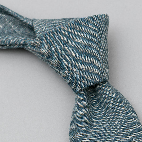The Hill-Side - Extra Neppy Indigo Chambray Tie - ST1-324 - image 1