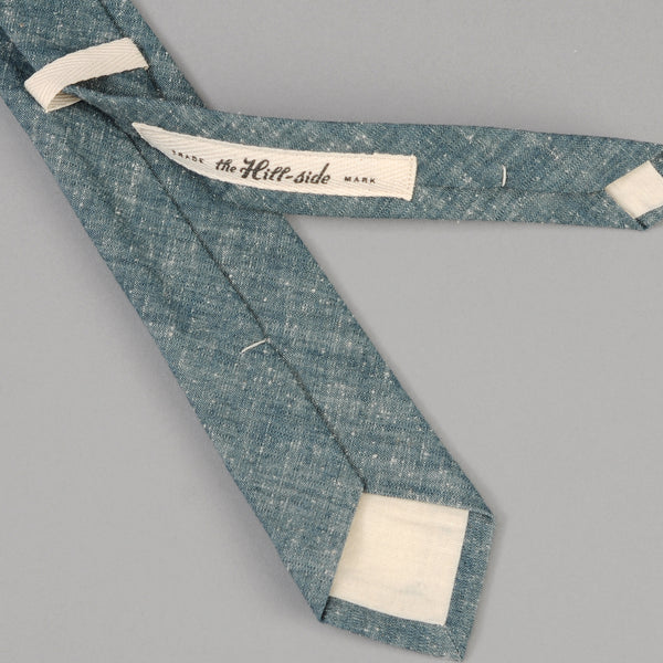 The Hill-Side - Extra Neppy Indigo Chambray Tie - ST1-324 - image 3