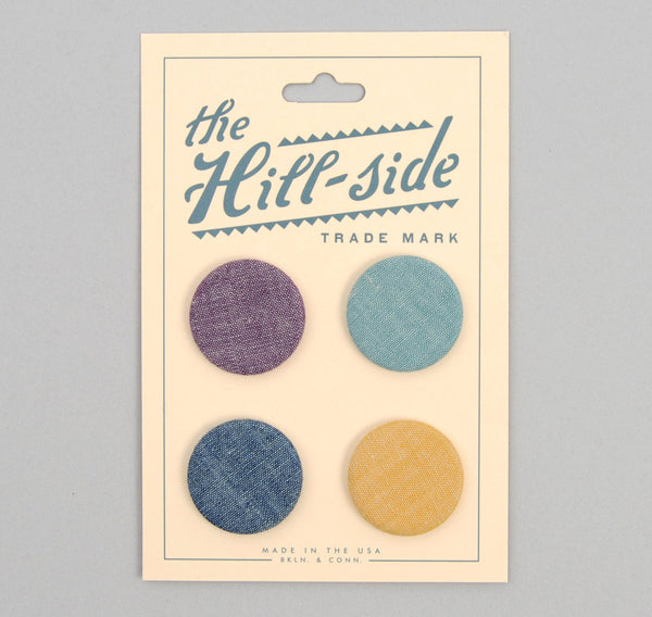 The Hill-Side - Four Chambrays Pin-Back Buttons - PB1-909